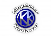 Kingfisher Kustoms logo design.