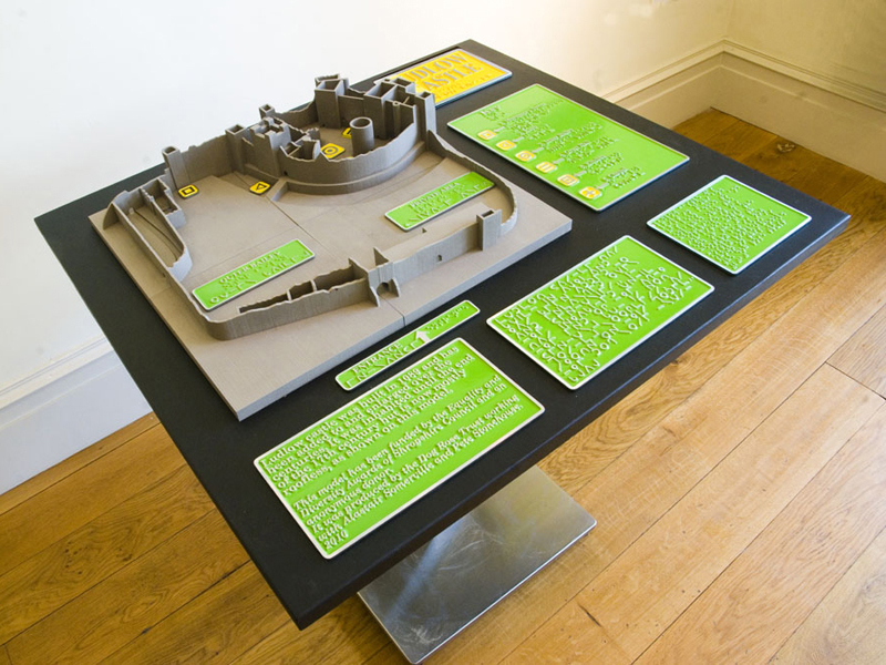Tactile Model of Ludlow Castle