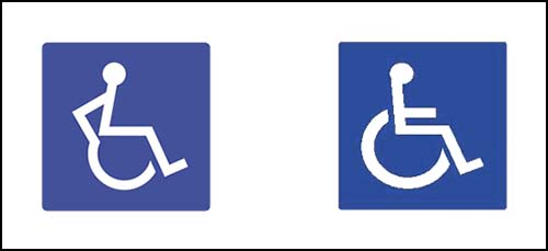 New and Old Disabled Signs