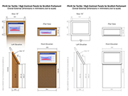 Plinth design drawing for clients and their contractors.
