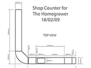 Simple drawings of shop counter design.
