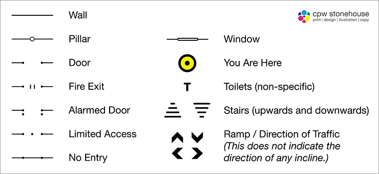 Tactile Floor Plan Symbols