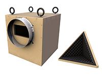 3D model of ventilator box / silencer